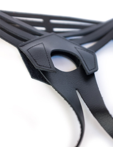 Vanity Strap-On Dildo Harness - Leather