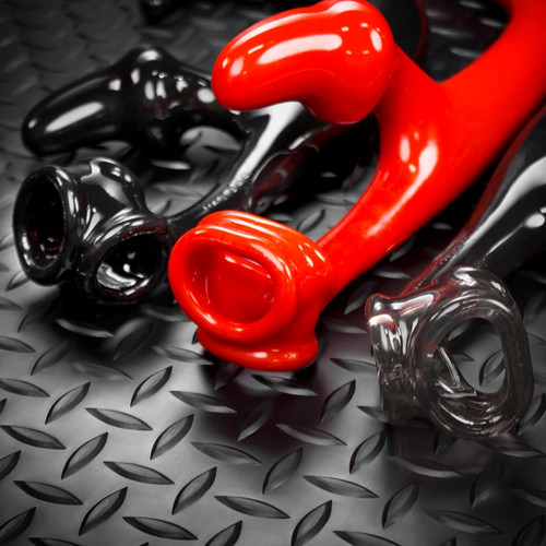 Alien Tail Buttplug and Cocksling - Black