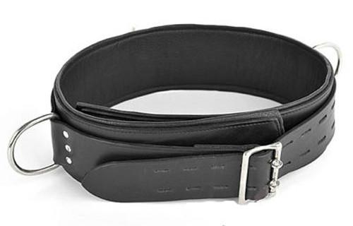 Deluxe Lockable Bondage Belt