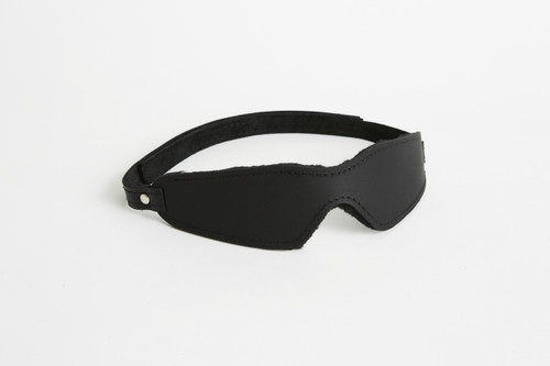Velcro fastened Leather Blindfold