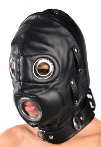 Total Lockdown Leather Hood - Small / Medium