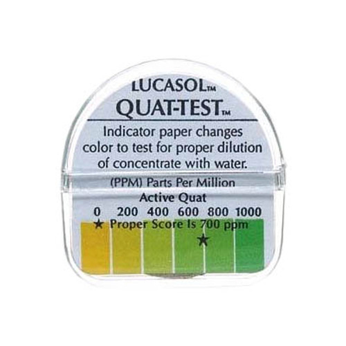 Lucasol Quat-Test Indicator Paper Strips - 1 Roll