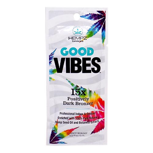 Hempz GOOD VIBES 15X Dark Bronzer - .57 oz. Packet
