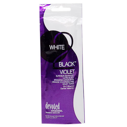 Devoted Creations WHITE 2 BLACK VIOLET Black Bronzer - .5 oz. Packet