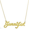 Cutout Nameplate Necklace