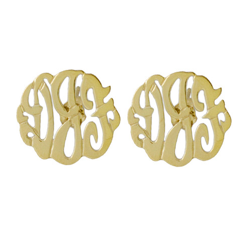 Personalized Script Cutout Earrings