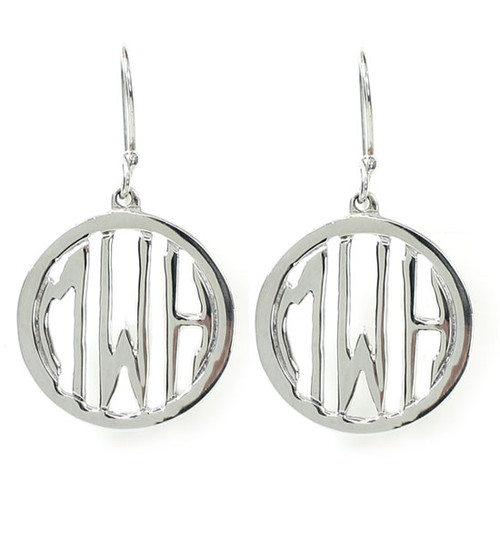 Personalized Circle Cutout Earrings