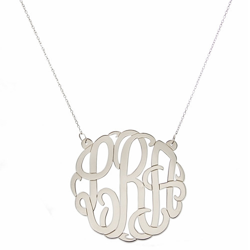 Personalized Large Script Cutout Necklace