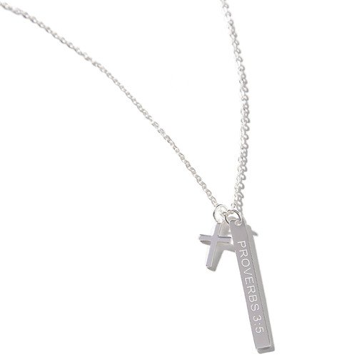 chain cross pendant ip solid necklace silver sterling