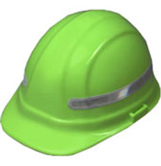 360 Wrap Around Fluorescent White Hard Hat Sticker