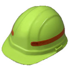 360 Wrap Around Fluorescent Orange Hard Hat Sticker