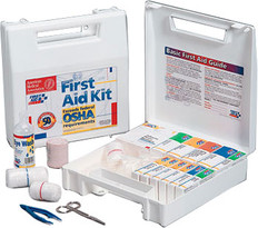 50 Person, 196-Piece, Bulk First Aid Kit - Plastic Case