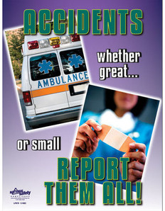 Accidents Report Them All Safety Poster (18 by 24 inch)