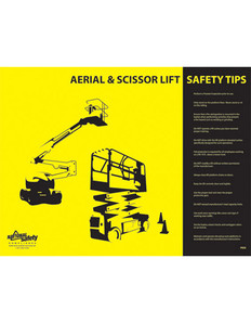 Aerial & Scissor Lift Safety Poster - 18X24