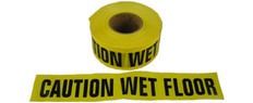 Allsafe SMC Barrior Tape, Caution Wet Floor, Yellow