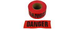 Allsafe SMC Barrior Tape, Danger Tape, Red