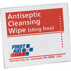"Antiseptic Cleansing Wipes (Sting Free) - 4-3/4"" x 7-3/4"" (50 p/Box)"