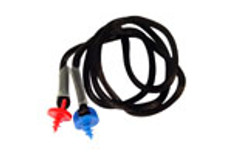 Black Neckcord with Screws for Radians Molded Earplugs