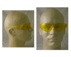 MCR Crews #CK114 Checkmate Safety Eyewear w/ Amber Lens