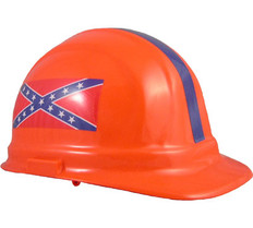 ERB #19141-CF Confederate Flag Hard Hat With Pin Lock Suspensions