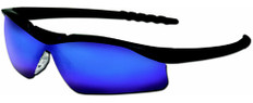 MCR Crews #DL118B Dallas Safety Eyewear w/ Blue Mirror Lens