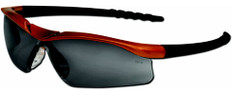 MCR Crews #DL212AF Dallas Safety Eyewear Orange Frame w/ Fog Free Smoke Lens
