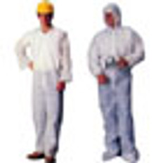 Polypropylene Standard Weight Coveralls with Hood, Elastic Wrists and Ankles (5 SAMPLE PACK)