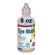 Eyewash 8 Ounce Screw Top Plastic Bottle (4 p/Box)