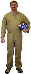 Indura Coveralls - Khaki Color - Size Small to 5XL