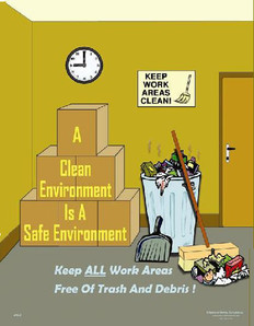 Clean Environment Safety Poster 24X32