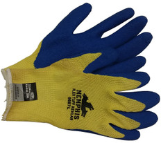 Kevlar stiched glove, Bear Kat w/ Blue latex palm (SOLD BY THE PAIR)