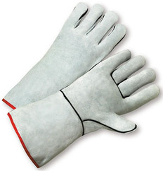 Welding Gloves with Gray Leather (sold by the dozen)