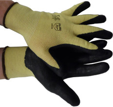 Nitrile Coated Kevlar String Knit with Black Palm (per dozen)