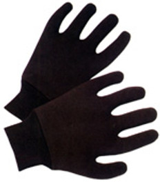 Brown Jersey Reversible Gloves (dz) (sold by the dozen)