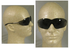 MCR Crews #S2112AF Blackjack Safety Eyewear w/ Fog Free Smoke Lens