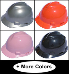 MSA V-Gard Cap Style Hard Hats with One Touch Suspensions