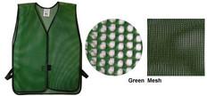 PVC Coated Assorted Colors Plain Vest – Green