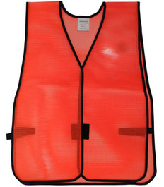 PVC Coated Assorted Colors Plain Vest – Red