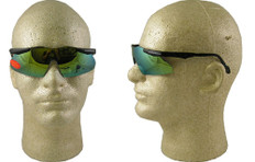 Smith and Wesson #4845 Mini Magnum Safety Eyewear w/ Gold Mirror Lens