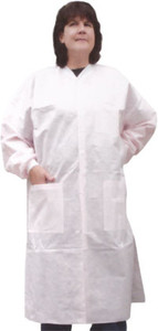 SMS Special Color Labcoat with 3 pockets, snap front (10 per pack)