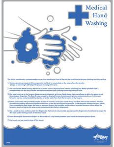 Medical Hand Washing Poster (18 by 24 inch)