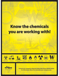 Know Your Chemicals Poster (18 by 24 inch)