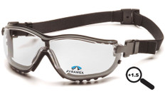 Pyramex #GB1810STR15 V2G Safety Eyewear w/ 1.5 Fog Free Clear Lens