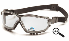 Pyramex #GB1810STR20 V2G Safety Eyewear w/ 2.0 Fog Free Clear Lens