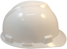 MSA # 463942 V-Gard Cap Style Safety Helmets with Staz-On Liners White