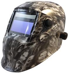 Auto Darkening Hydro Dipped Welding Helmet -  Real Zombie White Design - HDWH-701