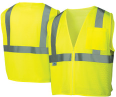 Pyramex Hi-Vis Mesh Class 2  Safety Vests - Lime w/ Silver Stripes - RVZ2110