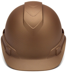 Pyramex Ridgeline Cap Style Safety Helmets with 6 Point RATCHET Liners - Copper Graphite Pattern - Front View