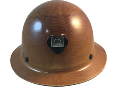 Skullgard Full Brim Hard Hats by MSA with Ratchet Suspension Natural Tan ~ Front view