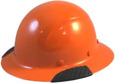DAX Actual Carbon Fiber Shell Full Brim Hard Hat - Hi-Viz Orange